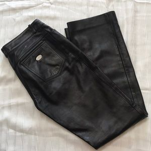 CELINE leather pants